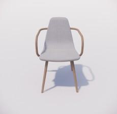 扶手椅_008_室内设计模型