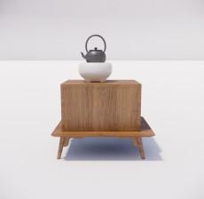 茶几边几_028_室内设计模型