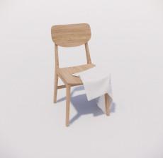 靠背椅_162_室内设计模型