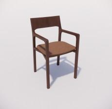 扶手椅_012_室内设计模型