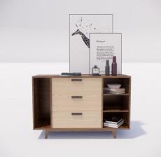 边柜_042_室内设计模型