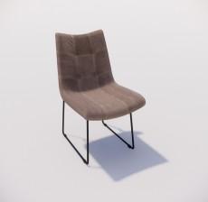 靠背椅_007_室内设计模型