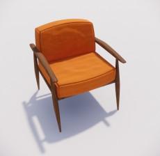 沙发椅_017_室内设计模型
