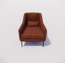 沙发椅_004_室内设计模型