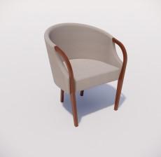扶手椅_010_室内设计模型