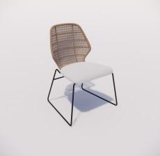 靠背椅_138_室内设计模型