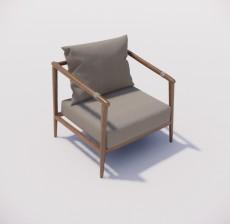 躺椅_001_室内设计模型