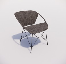 躺椅_013_室内设计模型