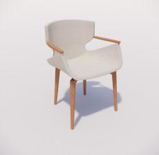 扶手椅_016_室内设计模型