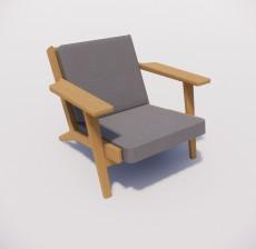 躺椅_014_室内设计模型