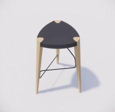吧椅_013_室内设计模型
