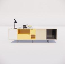电视柜_012_室内设计模型