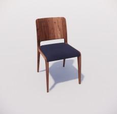 靠背椅_128_室内设计模型