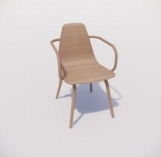 靠背椅_085_室内设计模型