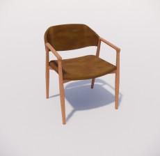 扶手椅_020_室内设计模型