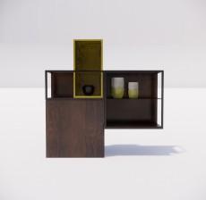收纳展示柜_001_室内设计模型