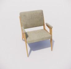 扶手椅_034_室内设计模型