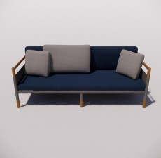 沙发_019_室内设计模型