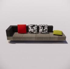 沙发_003_室内设计模型
