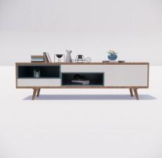 电视柜_007_室内设计模型