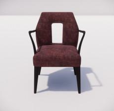沙发椅_002_室内设计模型