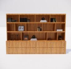 收纳展示柜_005_室内设计模型