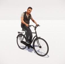 骑自行车的男人_118_室内设计模型