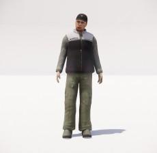 帽子男_056_室内设计模型