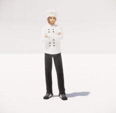 厨师男_059_室内设计模型