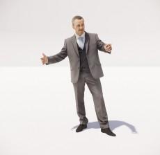 穿着西装的男人_104_室内设计模型