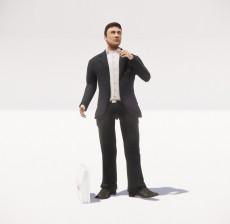 穿着西装的男人_050_室内设计模型