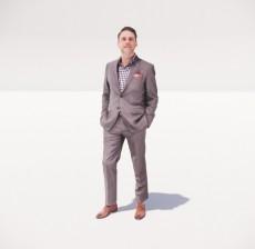 穿着西装的男人_016_室内设计模型
