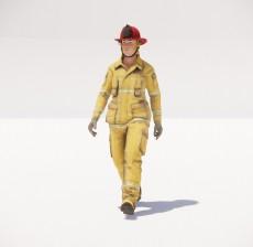 带着安全帽的男人_062_室内设计模型
