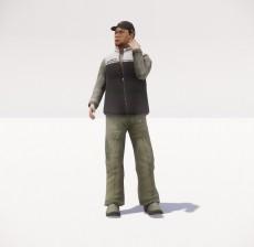 帽子男_058_室内设计模型