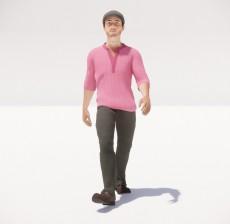 帽子男_063_室内设计模型