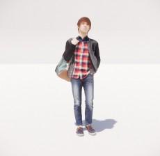 跨着背包的男人_013_室内设计模型