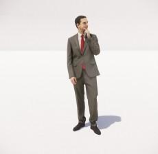 穿着西装的男人_080_室内设计模型