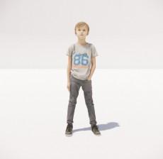小男孩_009_室内设计模型