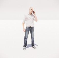 打电话的男人_024_室内设计模型