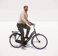 骑自行车的男人_122_室内设计模型