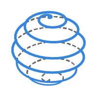 球状螺旋线 / Spherical Spiral