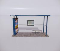 公交车站-现代公交车站-15