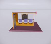 公交车站-现代公交车站-35