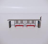 公交车站-现代公交车站-46