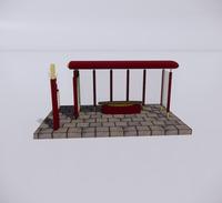 公交车站-现代公交车站-49