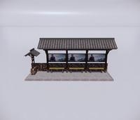 公交车站-新中式公交车站-4