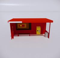 公交车站-现代公交车站-61