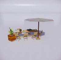 室外桌椅-85
