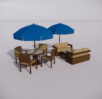 室外桌椅-86