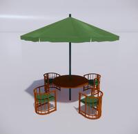 室外桌椅-87